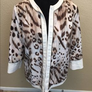 Chico's Reversible Leopard Animal Jacket Size 2